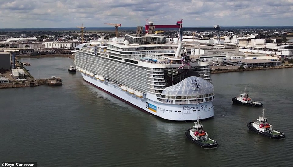 World's largest cruise ship the Wonder of the Seas completes sea trials - and will debut in 2022